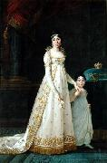 Queen of Naples with her daughter Zenaide Bonaparte Robert Lefevre