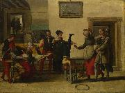 Itinerant Entertainers in a Brothel The Brunswick Monogrammist