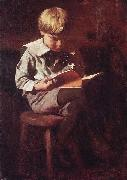 Boy Reading: Ned Anshutz Thomas Pollock Anshutz
