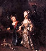 Frederick the Great as a child with his sister Wilhelmine antoine pesne