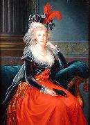 Portrait of Maria Carolina of Austria  Queen consort of Naples elisabeth vigee-lebrun