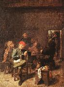 Peasants Smoking and Drinking Adriaen Brouwer
