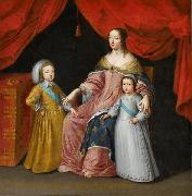 Anna of Austria with her children Anonymous