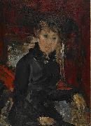 Woman dressed in black Ernst Josephson