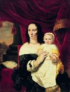 Portrait of Johana de Geer-Trip with daughter. Ferdinand bol