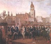 Kosciuszko taking the oath at the Cracow Market Square. Franciszek Smuglewicz