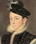 Portrait of King Charles IX Francois Clouet