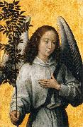 Angel with an olive branch Hans Memling