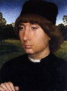 Portrait of a Young Man before a Landscape Hans Memling