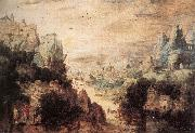 Landscape with Christ and the Men of Emmaus Herri met de Bles