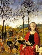 Sts Margaret and Mary Magdalene with Maria Portinari Hugo van der Goes