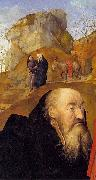 Sts Anthony and Thomas with Tommaso Portinari Hugo van der Goes