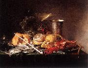Still-Life, Breakfast with Champaign Glass and Pipe Jan Davidsz. de Heem