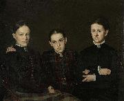 Cornelia, Clara en Johanna Veth, the three Sisters of the Artist Jan Veth