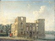 Berckenrode Castle in Heemstede after the fire of 4-5 May 1747: rear view. Jan ten Compe