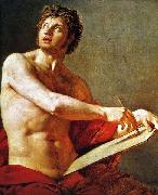 Academic Study of a Male Torse. Jean Auguste Dominique Ingres