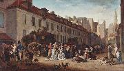 The Arrival of the Diligence (stagecoach) in the Courtyard of the Messageries Louis-Leopold Boilly