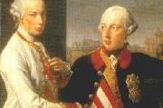 Portrait of Emperor Joseph II (right) and his younger brother Grand Duke Leopold of Tuscany (left), who would later become Holy Roman Emperor as Leopo Pompeo Batoni