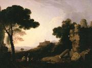 Landscape Capriccio with Tomb of the Horatii and Curiatii, and the Villa of Maecenas at Tivoli Richard Wilson
