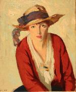 The Beach Hat Robert Henri