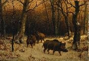Wild Boars in the Snow Rosa Bonheur