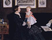 Mrs James Wyatt Jr and her Daughter Sarah Sir John Everett Millais