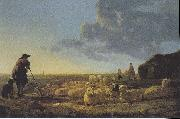 Flock of sheep at pasture Aelbert Cuyp