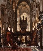 Interior of the 'Sint-Salvatorkathedraal' in Bruges Victor-Jules Genisson