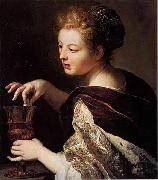 Cleopatra puts a pearl in the wine Anthoni Schoonjans