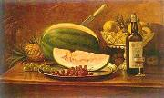 Fruit and wine on a table Benedito Calixto