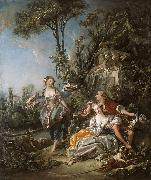 Lovers in a Park Francois Boucher
