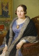 Portrait of Margarete von Soist. Signed and dated Franz Ittenbach