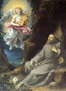 St Francis Consoled by an Angel GIuseppe Cesari Called Cavaliere arpino