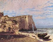 Cliffs at Etretat after the storm Gustave Courbet