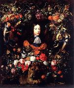 Garland of Flowers and Fruit with the Portrait of Prince William III of Orange Jan Davidsz. de Heem