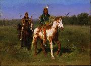 Mounted Indians Carrying Spears Rosa Bonheur