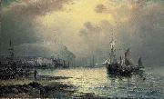 Fishing vessels off Scarborough at dusk William J.Glackens