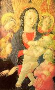 The Virgin Child Surrounded by Four Angels Castello Nativity, Master of the