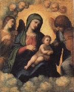 Madonna and Child in Glory with Angels Correggio