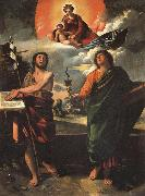 Madonna in Glory with SS.John the Baptist and john the Evangelist DOSSI, Dosso