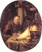 Man Interrupted at His Writing DOU, Gerrit