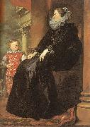 Genoese Noblewoman with her Son Dyck, Anthony van