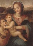 The madonna and child with the infant saint john the baptist Francesco Brina