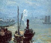 Tugboat and Lighter Glackens, William James