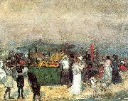 Fruit Stand, Coney Island Glackens, William James