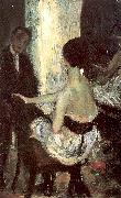 Seated Actress with Mirror Glackens, William James