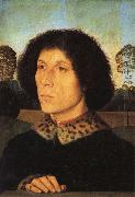 Portrait of a Man in a Landscap Hans Memling