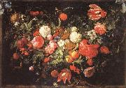 A Festoon of Flowers and Fruit Jan Davidsz. de Heem