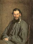 Portrait of the Writer Leo Tolstoy Kramskoy, Ivan Nikolaevich