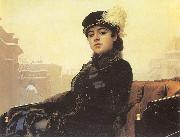 Portrait of a Woman Kramskoy, Ivan Nikolaevich